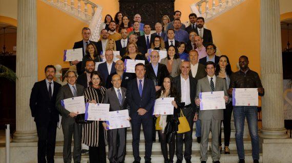 Entregados 60 diplomas a establecimientos, empresas y guías turísticos de la capital