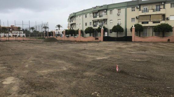 Comienza la construcción de un aparcamiento gratuito para 70 vehículos en Utrera