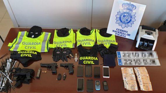 Desarticulado un grupo criminal cuyos miembros simulaban ser guardias civiles