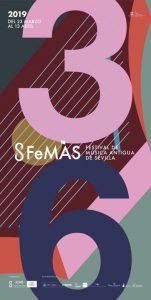 Cartel de la edición XXXVI del Festival de Música Antigua de Sevilla.