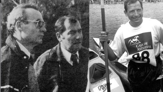 El club piragüismo Triana homenajea a dos grandes figuras del panorama nacional