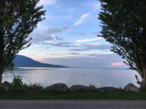 El lago de Neuchâtel.