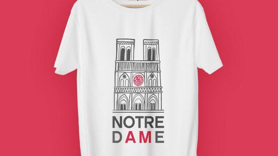 Camisetas para ayudar a Notre Dame, la última iniciativa solidaria de Álvaro Moreno