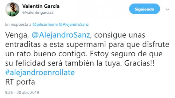 #AlejandroEnróllate, el nuevo hashtag solidario que viraliza el periodista Valentín García