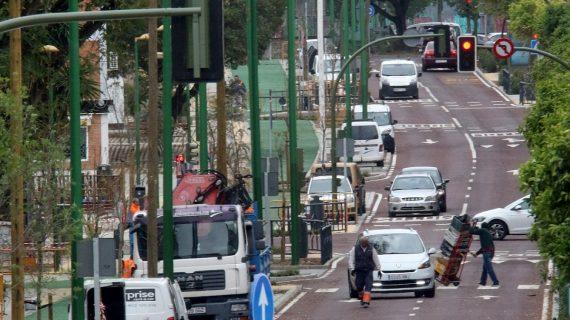 Obras en la Avenida del Greco para reparar los daños causados por el temporal