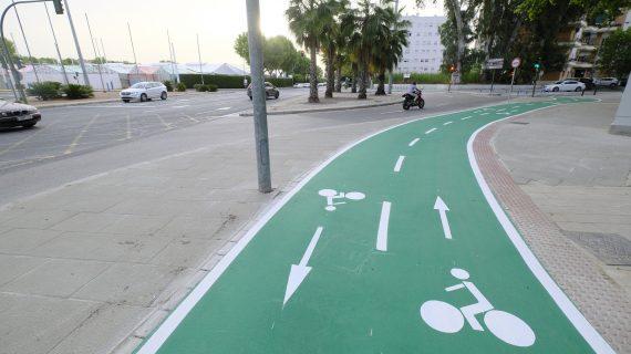 Culminadas las obras de prolongación del carril bici de la Avenida Juan Pablo II