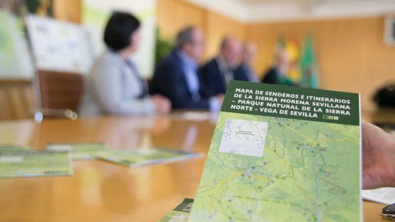 Se edita un nuevo mapa de senderos e itinerarios en la Sierra Noroccidental Sevillana