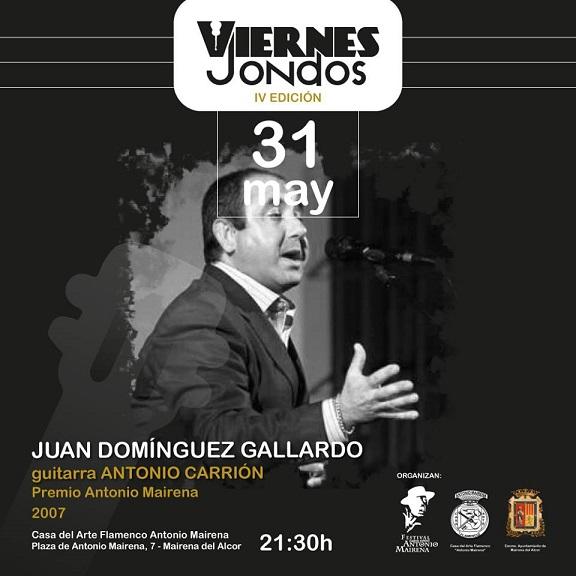 Viernes Jondos cierra su cuarta temporada con el recital de Juan Domínguez Gallardo