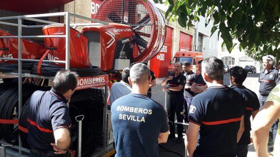 El servicio de Bomberos suma un ventilador para intervenciones en incendios subterráneos