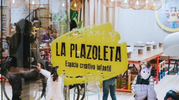 Huchas recicladas para los más pequeños en Torre Sevilla