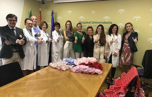 Las más pequeñas del Hospital Virgen Macarena también se visten de flamenca