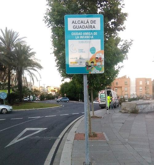 Alcalá da la bienvenida con cuatro nuevas placas de Ciudad Amiga de la Infancia