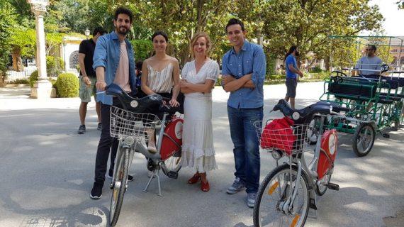 La película 'Una vez más' continúa su rodaje en el centro de Sevilla