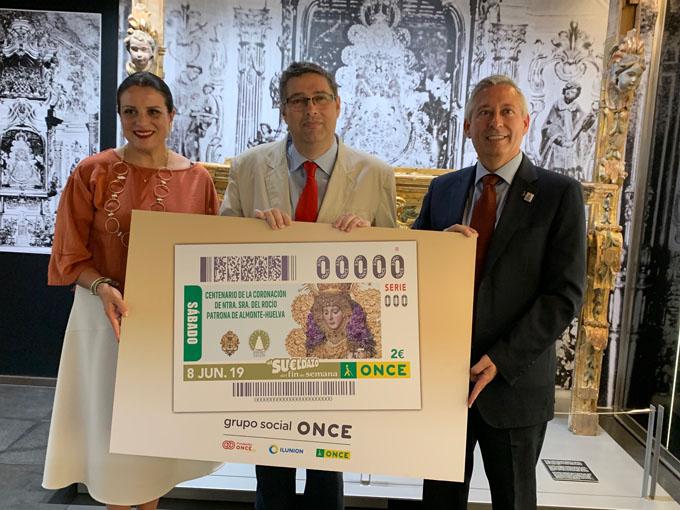 La ONCE dedica el cupón del 8 de junio al Centenario de la Coronación de la Virgen del Rocío