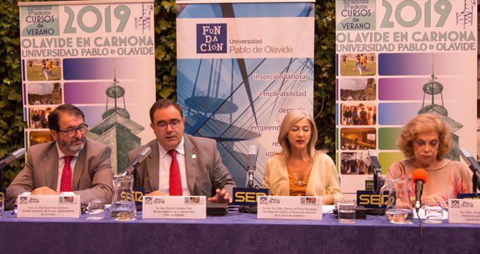 Arranca en Carmona la XVII edición de los Cursos de Verano de la Pablo de Olavide