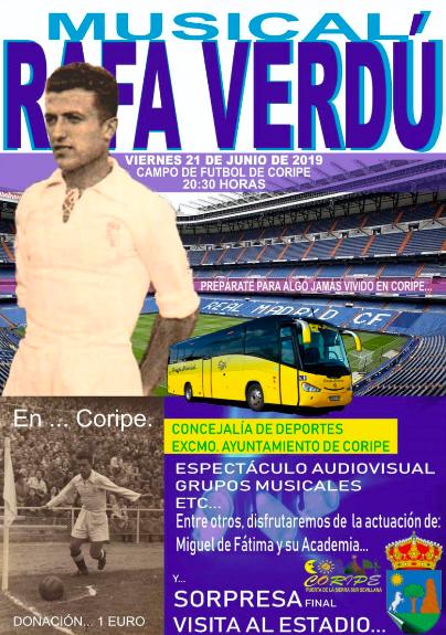 Coripe homenajea a Rafa Verdú, el jugador madridista vivo más veterano