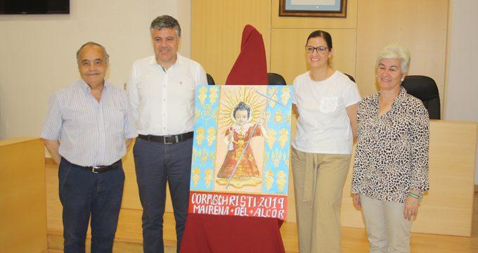 Nolasco Alcántara elabora el cartel de la Solemnidad del Corpus Christi de Mairena del Alcor