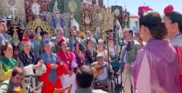 El coro de la Hermandad de Sevilla, protagonista en la Misa de Romeros de El Rocío