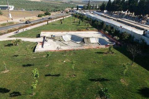 A punto de finalizar la primera fase de las obras para la instalación de un skatepark en Morón de la Frontera