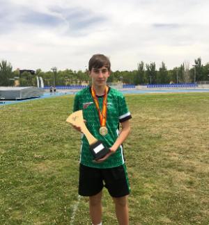 El tomareño Sergio Rodríguez, campeón de España Sub 16 de atletismo