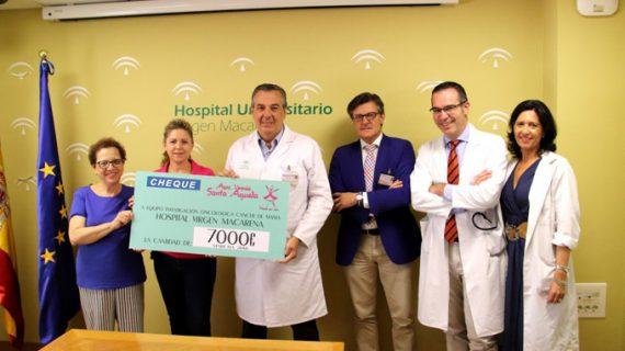 El Hospital Virgen Macarena recibe una donación de 7.000 euros de la Asociación Verania
