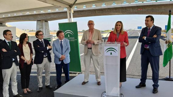 Abierto al tráfico el nuevo enlace de la autovía de Acceso Norte a La Rinconada