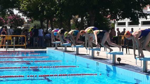 La piscina municipal de Lora del Río acoge la 2ª jornada del Circuito Provincial de Natación de Verano