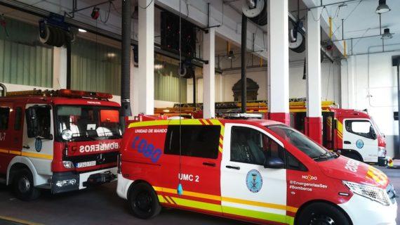 Los bomberos de Sevilla sustituirán la iluminación de emergencias de sus vehículos