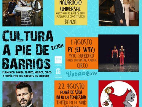 Mairena del Alcor inicia su programación cultural de verano en los barrios con cine y circo