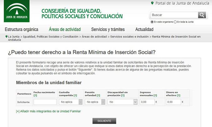 Ponen en marcha un simulador digital para conocer si se tiene derecho a la Renta Mínima