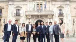 Una delegación de la East China University of Science and Technology visita la US para reforzar su colaboración