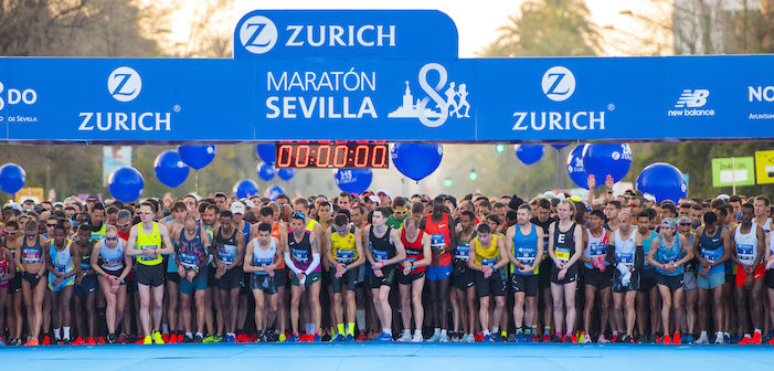 El Parque de María Luisa acoge los entrenamientos oficiales del Zurich Maratón de Sevilla 2020
