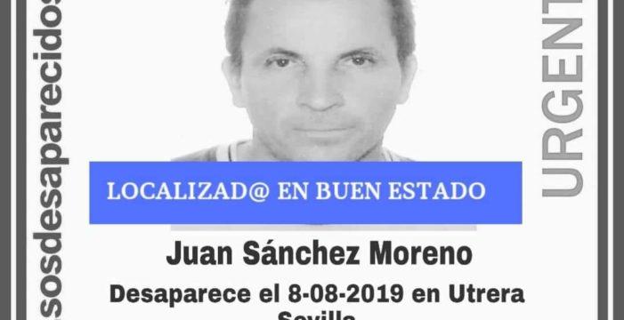 Localizado en buen estado el vecino desaparecido en Utrera