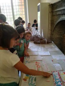 Niños que han participado en el programa 'El Real Alcázar de Sevilla, mi Palacio de Verano'.