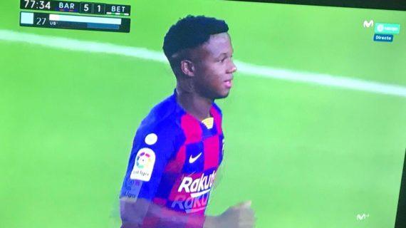 Un joven de Herrera debuta con el primer equipo del F.C. Barcelona