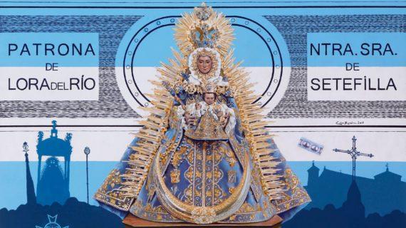Lora del Río se vuelca con su patrona, la Virgen de Setefilla
