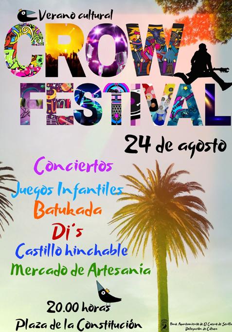 El CrowFestival 2019 llena de música la Plaza de la Constitución de El Cuervo