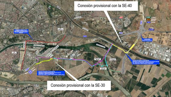 Someten a información pública los proyectos de las conexiones provisionales para las actuaciones en el Puente del Centenario