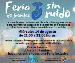 La Feria de Fuentes de Andalucía contará con unas horas sin ruido en las atracciones