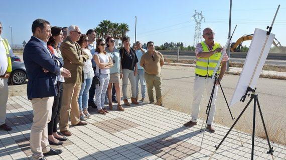 Comienzan las obras del nuevo acceso a Torre de la Reina en Guillena