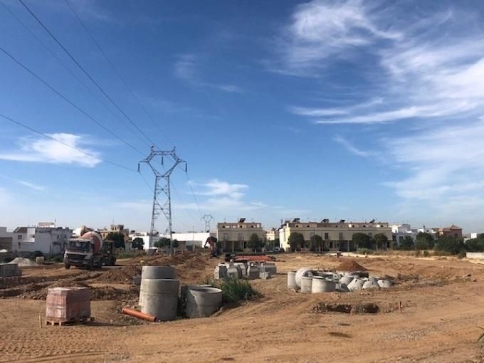 La Algaba construye una nueva zona comercial y residencial en Huerta Andrés