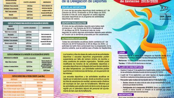 San Juan de Aznalfarache oferta una veintena de actividades y escuelas deportivas para la temporada 2019-2020