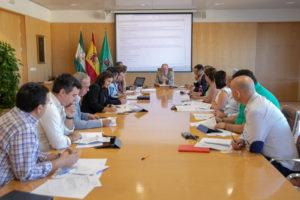 Reunión de la Junta de Gobierno de la Diputación de Sevilla.