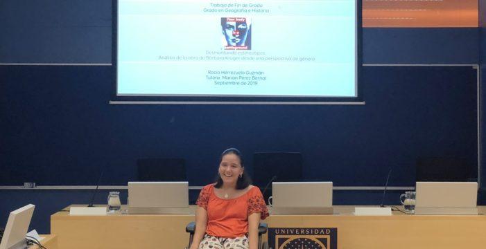 Una estudiante con un 92 % de discapacidad consigue el grado de Geografía e Historia