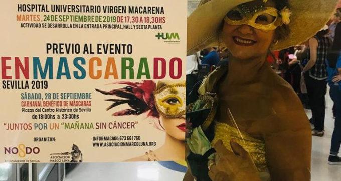 Los niños del Hospital Macarena disfrutan con un carnaval de máscaras