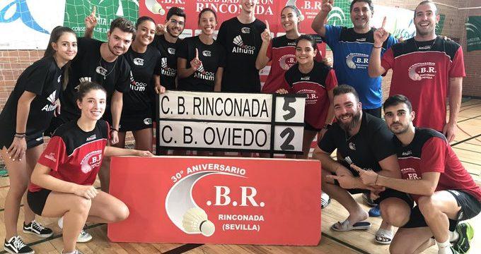 Victoria sorpresiva del Club de Bádminton La Rinconada para afrontar con ilusión la temporada