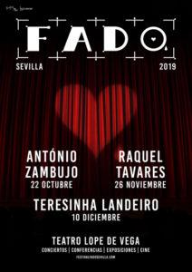 Cartel del V Festival de Fado de Sevilla.