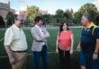 El C.D. Huerta del Perejil, del distrito Norte, ya disfruta de su nuevo campo de césped artificial