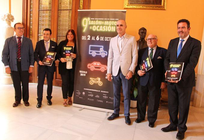 Presentación del 9º Salón del Motor de Ocasión que se celebra en Fibes.