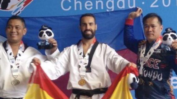 El tomareño Adán Vázquez, campeón de taekwondo en los mundiales de Policías y Bomberos
